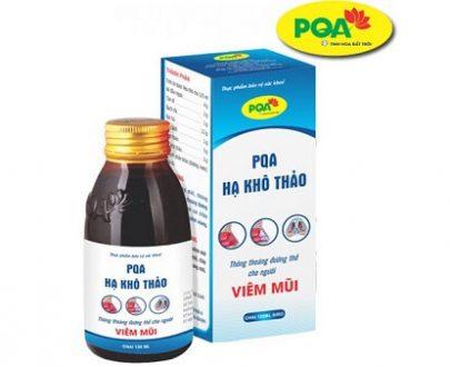 PQA Hạ khô thảo trị viêm mũi, nghẹt mũi, chảy nước mũi, viêm xoang mũi, xoang trán