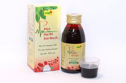 PQA Đại bổ khí huyết chuyên trị bệnh huyết áp thấp, tụt huyết áp, đau đầu, chóng mặt, sây sẩm mặt mày