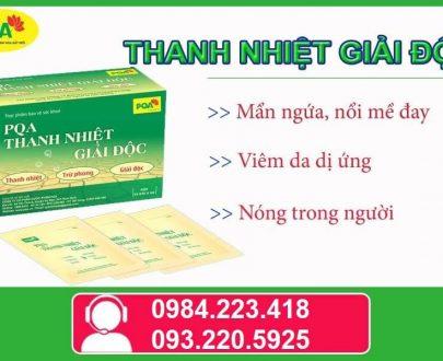PQA Thanh nhiệt giải độc chuyên dùng cho người bị mẩn ngứa, nổi mề đay, viêm da dị ứng, eczema cấp và mãn tính, tổ đỉa, á sừng, nấm đối xứng….