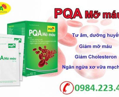 PQA Mỡ Máu làm giảm mỡ máu, giảm cholesteron, ngăn ngừa xơ vữa động mạch