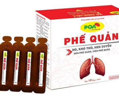 PQA Phế quản điều trị ho, ho lâu ngày, khó thở, thở khò khè, hen suyễn, hen phế quản, viêm phế quản