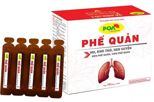 PQA Phế quản trị ho, ho lâu ngày, khó thở, thở khò khè, hen suyễn, hen phế quản, viêm phế quản