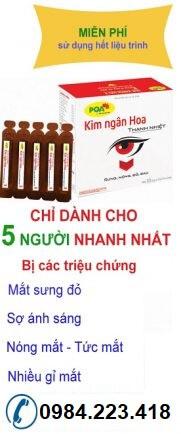 Thuốc chữa đau mắt đỏ Siro PQA Kim Ngân Hoa